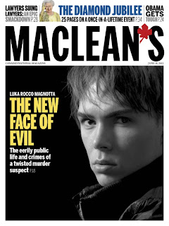 Luka Magnotta, cover of MACLEAN'S magazine