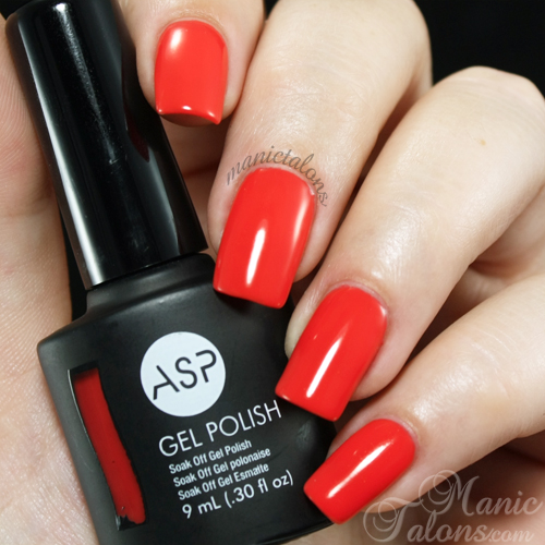 ASP Gel Polish Tangerine Burst Swatch