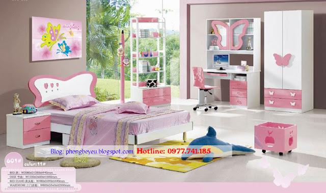 Bộ phòng ngủ hình bướm xinh