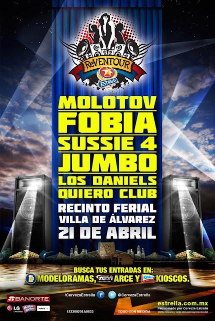 Flyer Reventour Estrella 2012 - Molotov, Fobia, Jumbo