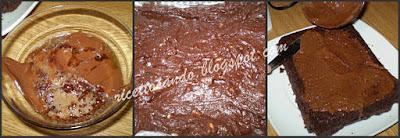 Brownies di cioccolato e noci assembliamo il tortino e tagliamo in quadrotti