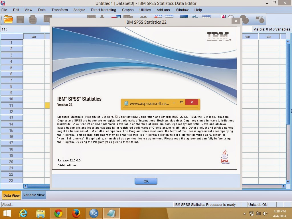 ibm spss statistics Ibm® spss® statistics is the world's leading statistical software used to solve business and research problems by means of ad-hoc analysis, hypothesis testing, and predictive analytics organizations use ibm spss statistics to understand data, analyze trends, forecast and plan to validate.