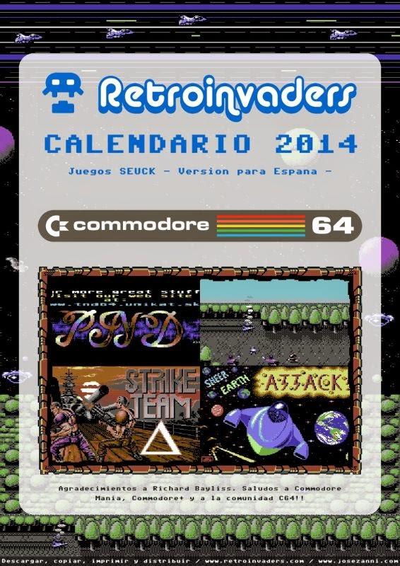 C64 Calendario 2014 - juegos SEUCK