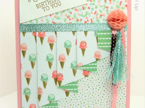 Pleat Fold Card Birthday Bouquet