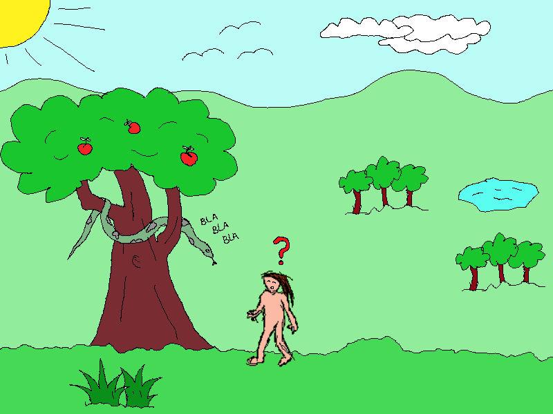 Cosas de reli ad n y eva for Adan y eva en el jardin