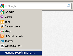 Manage Search Engines