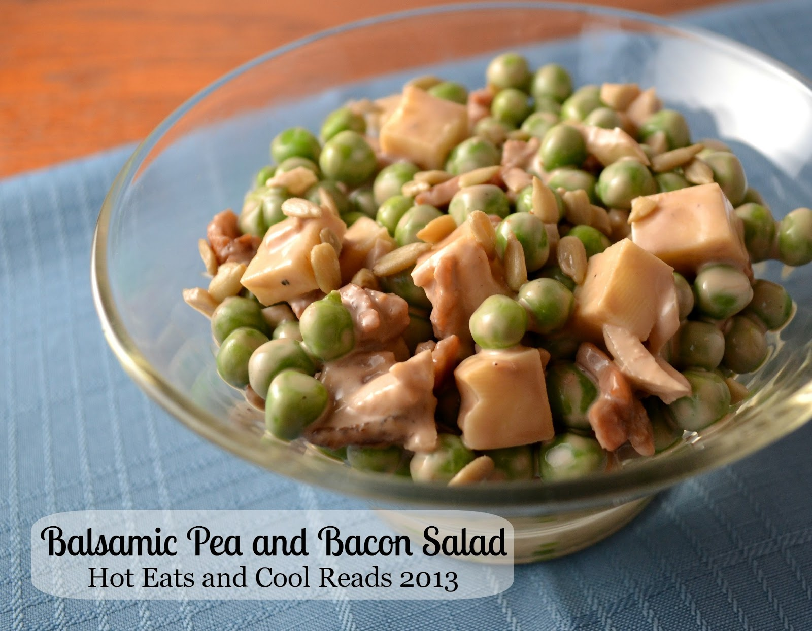 Hot Eats and Cool Reads: Balsamic Pea and Bacon Salad Recipe
