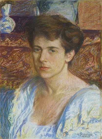 ELEGANT PASTEL PORTRAIT BY SEVERINI