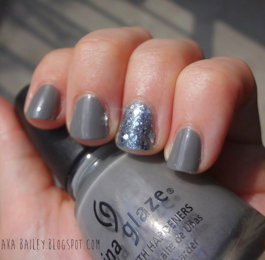 Recycle by China Glaze, Dust by Urban Outfitters as an accent nail polish