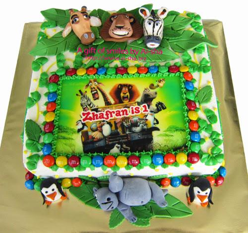 Madagascar Birthday Cake  Ai-sha Puchong Jaya