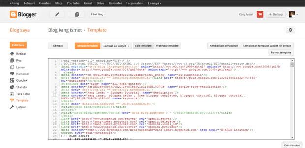 tampilan baru edit html blogger