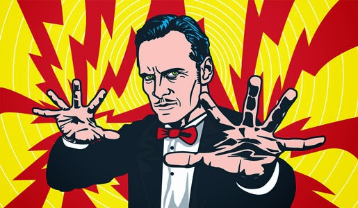 Image Of Scary Looking Hypnotist - Poking fun that hypnosis isn't a magical power.