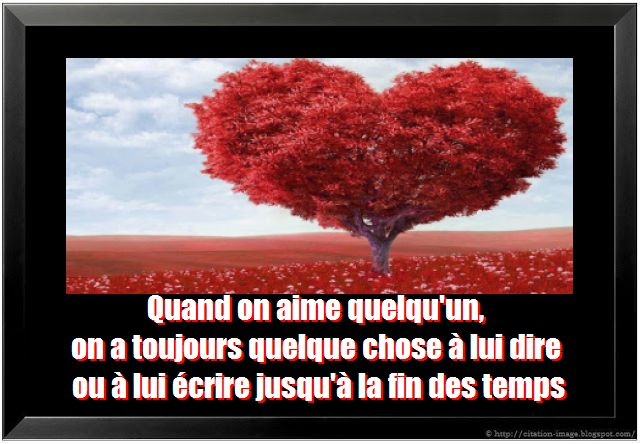 Citation romantique en image