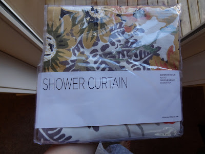 sewing a shower curtain to a window panel