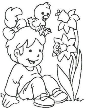 Banco de Imagenes y fotos gratis: Dibujos de Primavera para Pintar ...