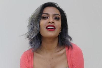 grey hair on brown girl
