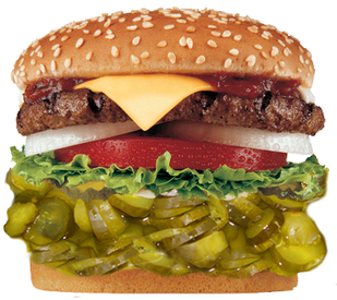 Burger et les cornichons Bick's #BicksBurger