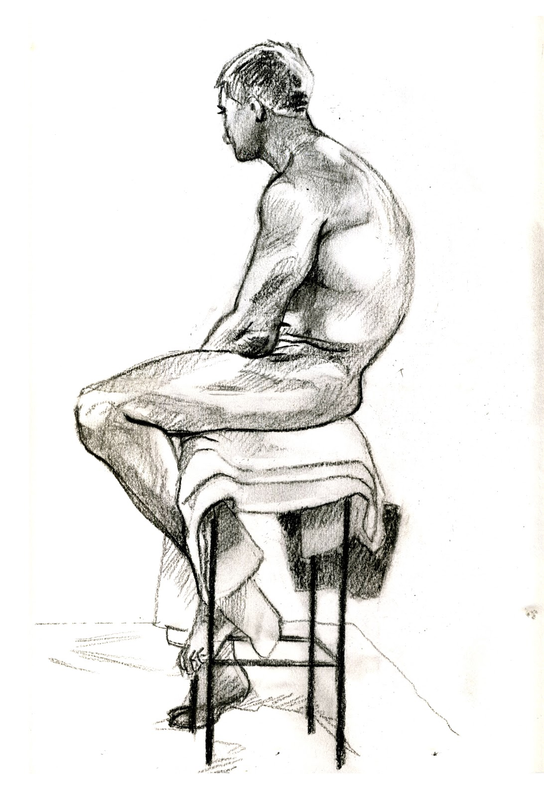 Man sitting in chair drawing - More Life Drawing