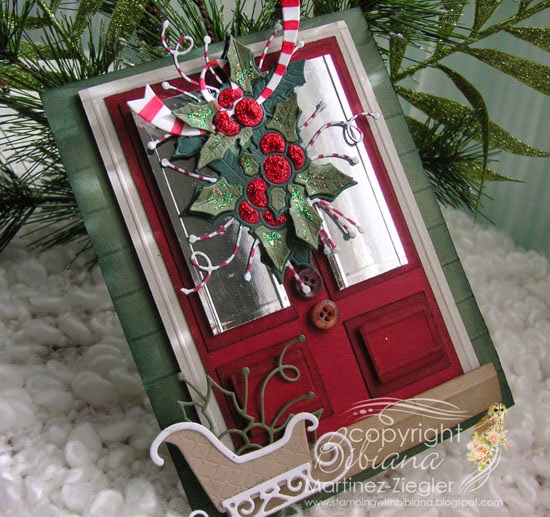 christmas door card side