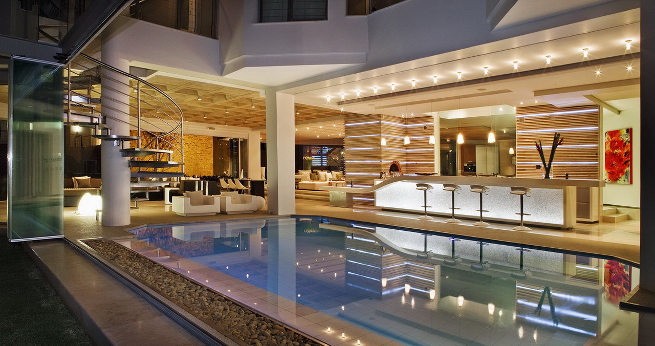 Indoor Pool with Bar