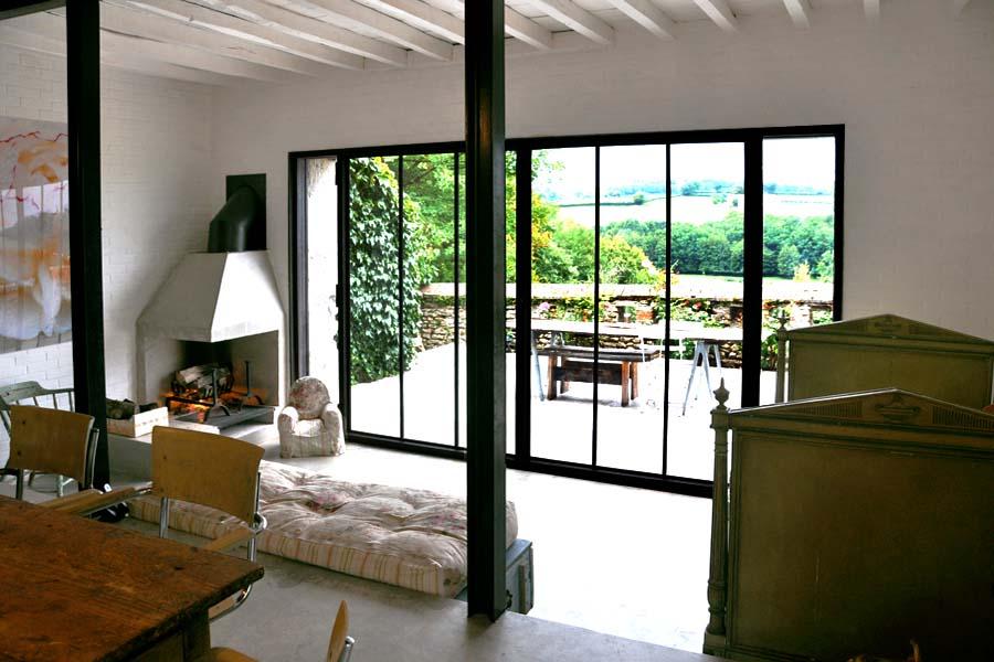 Una casa de campo en francia decoraci n for Baie style atelier