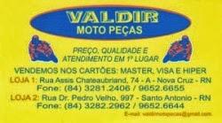 Confira os Melhores preços da região em Valdir Motos Peças em Nova Cruz.