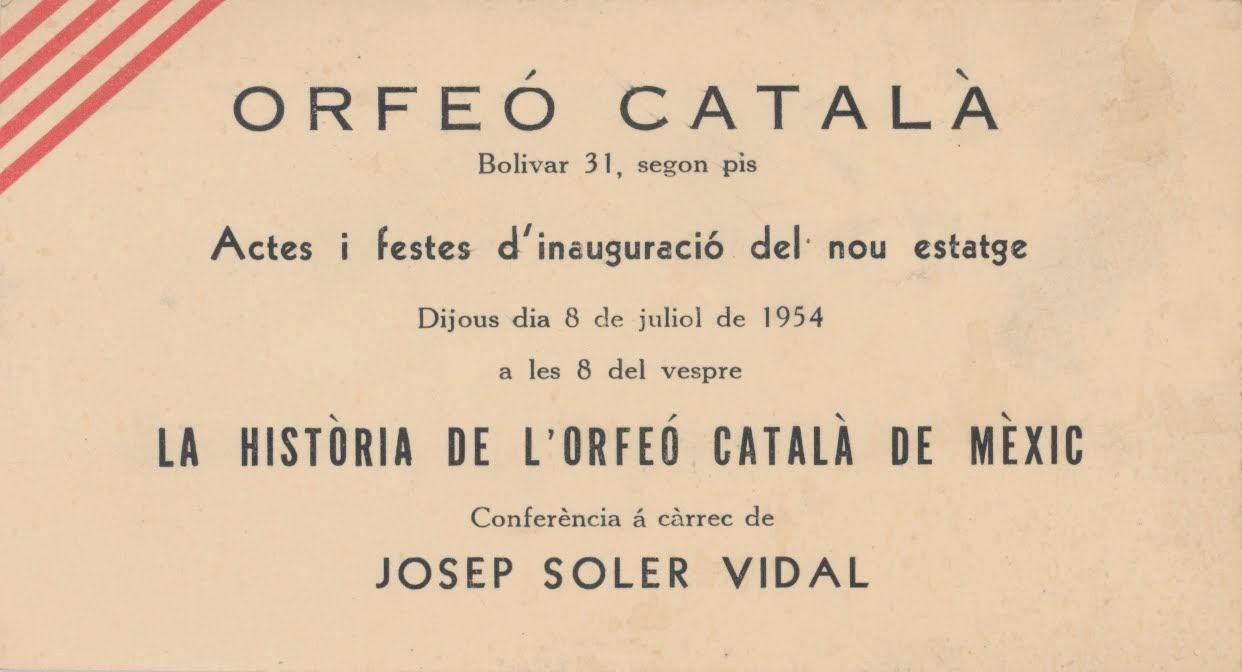 Actes d'inauguració nova seu de l'Orfeó Català de Mèxic