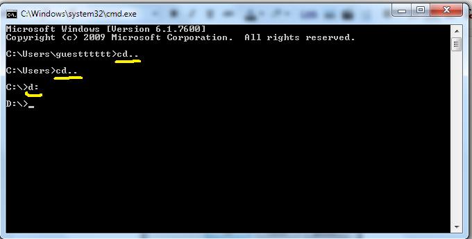 how to show hidden folders in windows 7 using cmd
