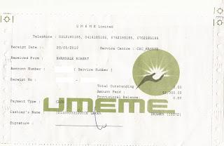 UMEME receipt