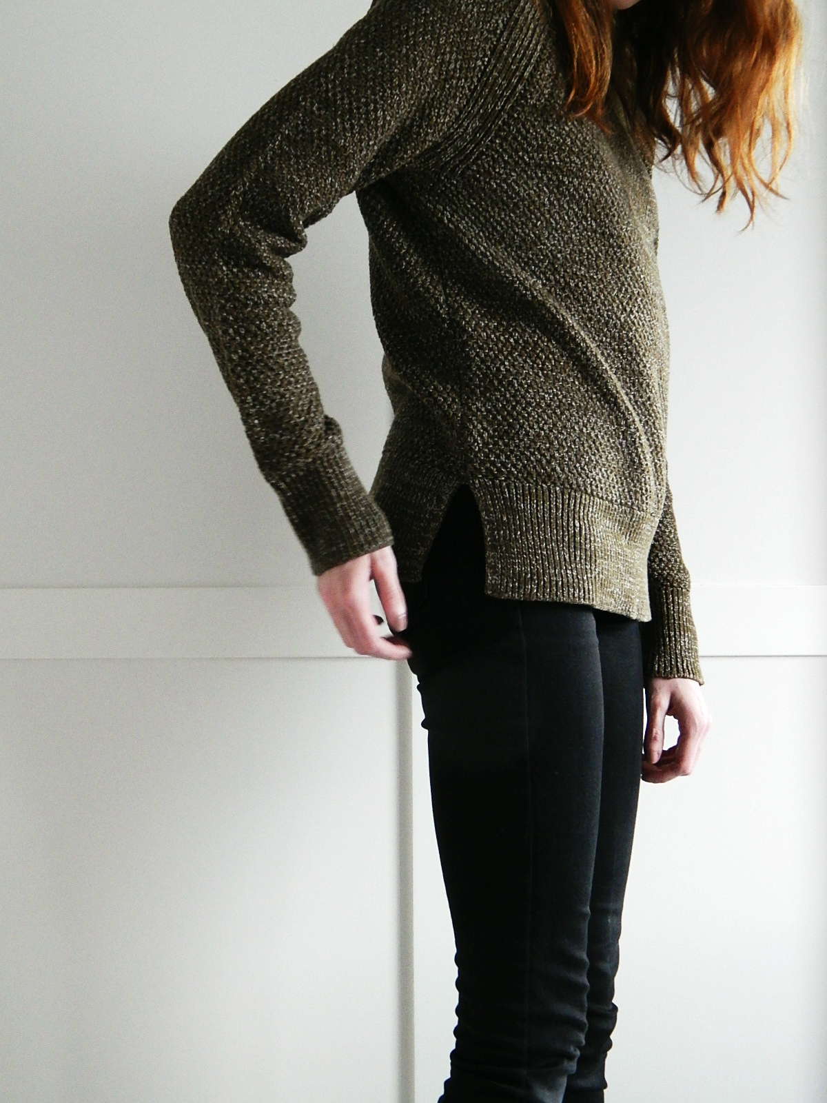 Moss-stitch raglan sweater review
