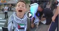 اسرائیلی پولیس نے فلسطین کے حق میں بولنے