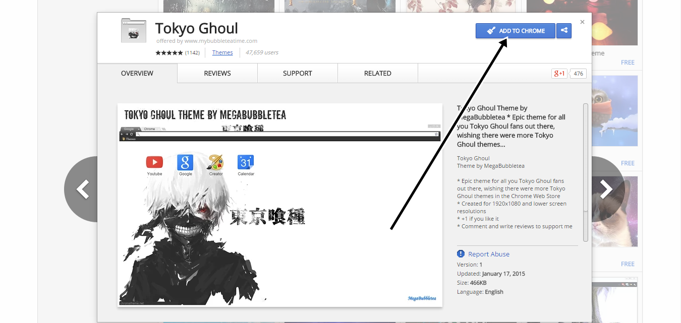 Google chrome themes tokyo ghoul - This Theme Has Been Added To Your Chrome