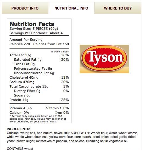 Breaded Recipe New 294 Breaded Chicken Breast Nutrition Label