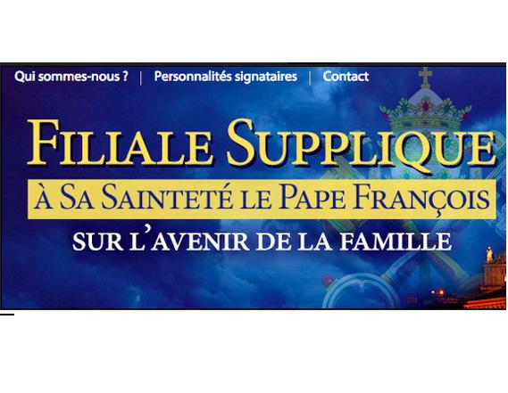 Synode sur la famille : supplique au Saint-Père