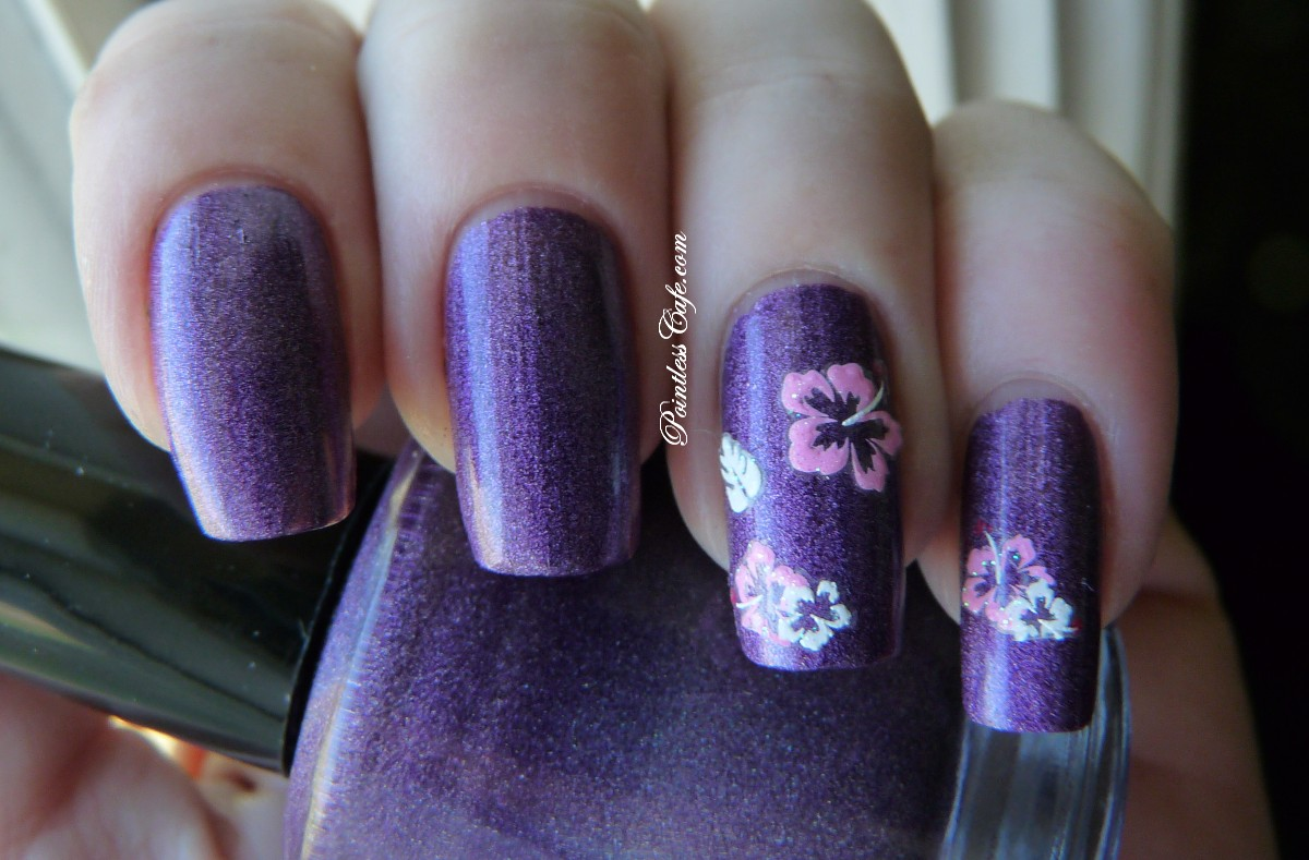 Joby nail art flower stickers review pointless cafe joby nail art hibiscus stickers izmirmasajfo