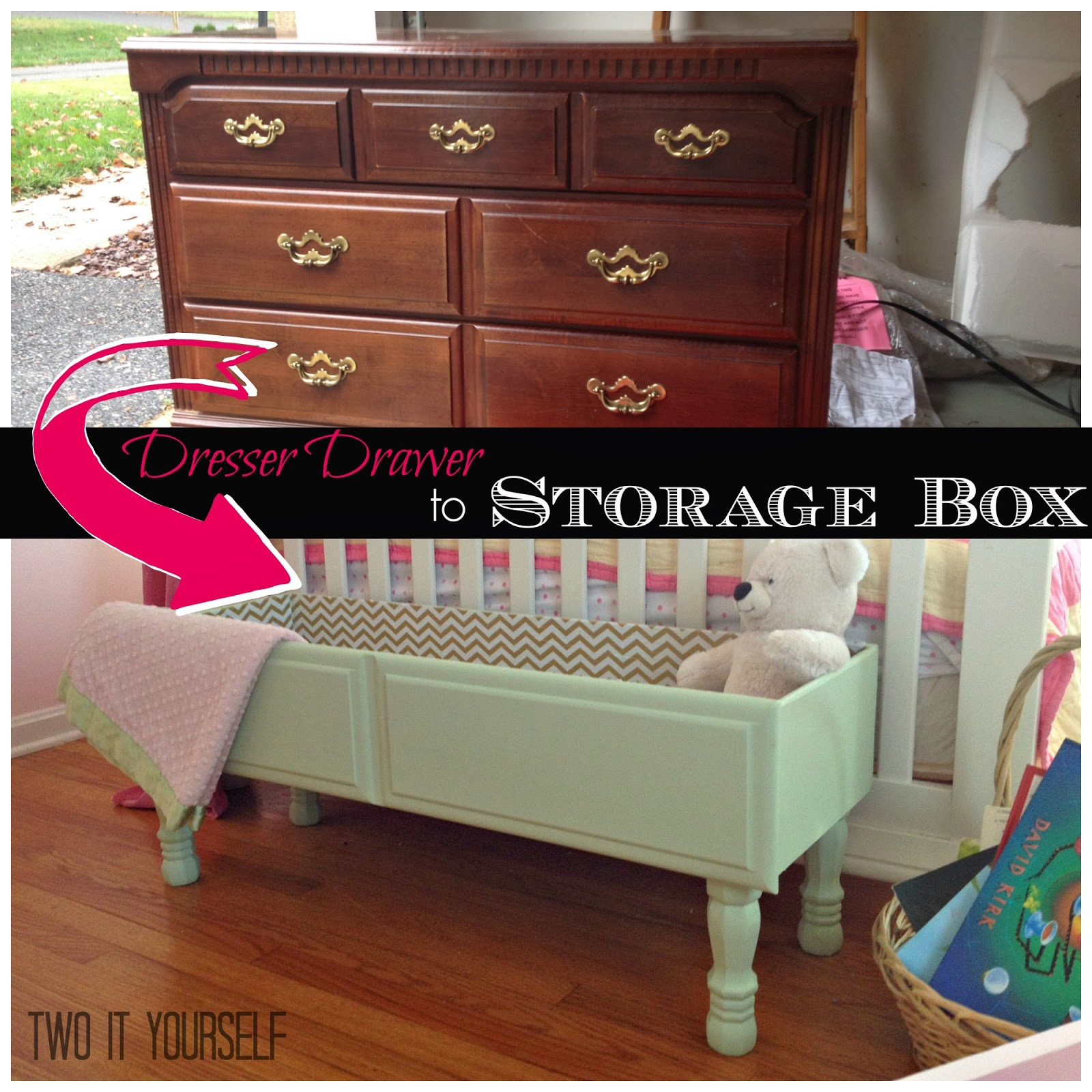 Oh boy I am so excited to share this one with you...it turned out way better than I could have anticipated and had I known what the end result would look ... & Two It Yourself: Dresser Drawer to Storage Box Easy DIY Project