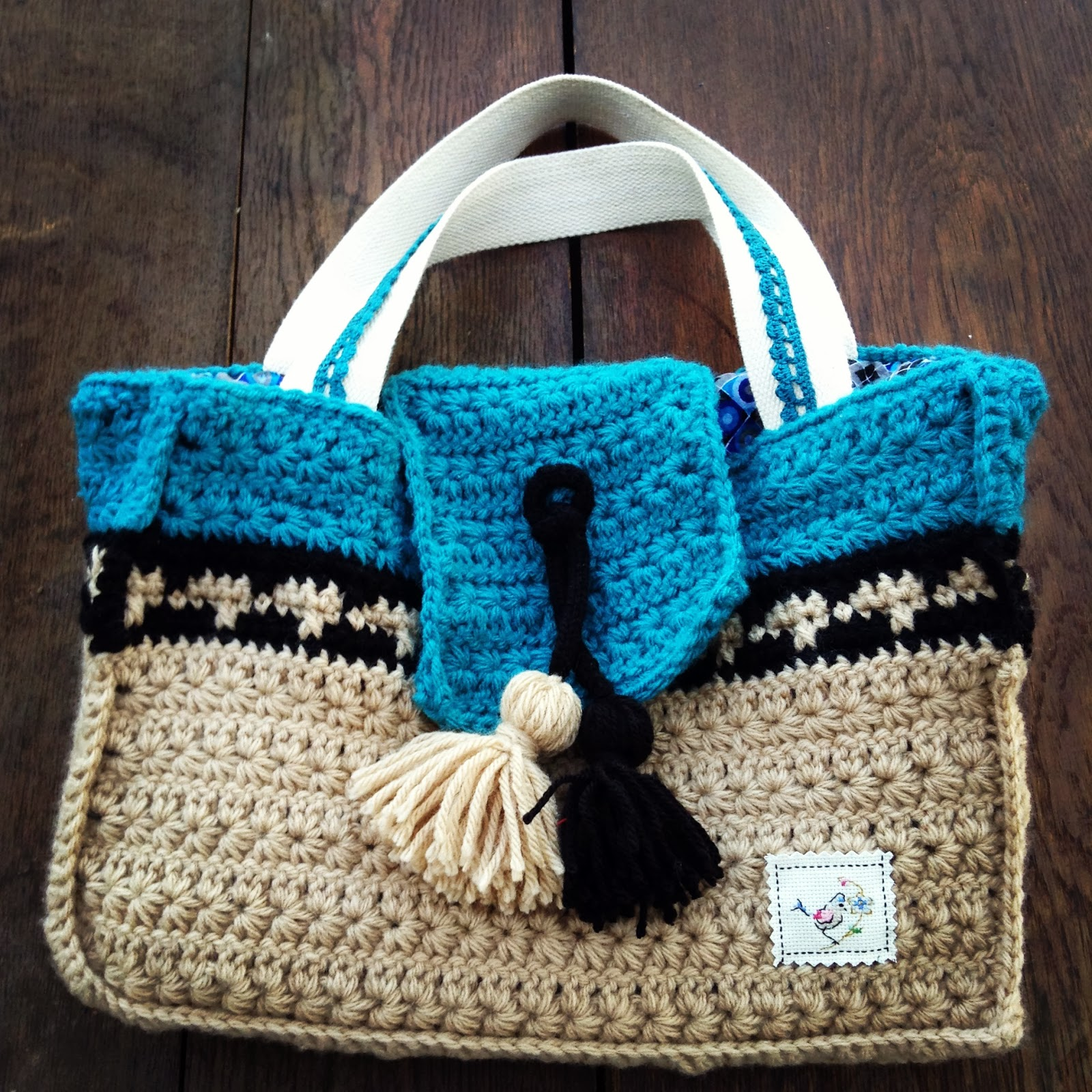 crochet bag with star stitch