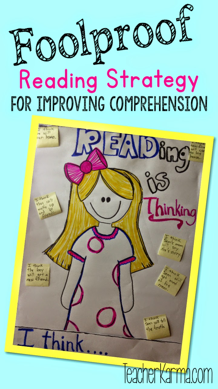 How to improve reading comprehension with strategies.  teacherkarma.com