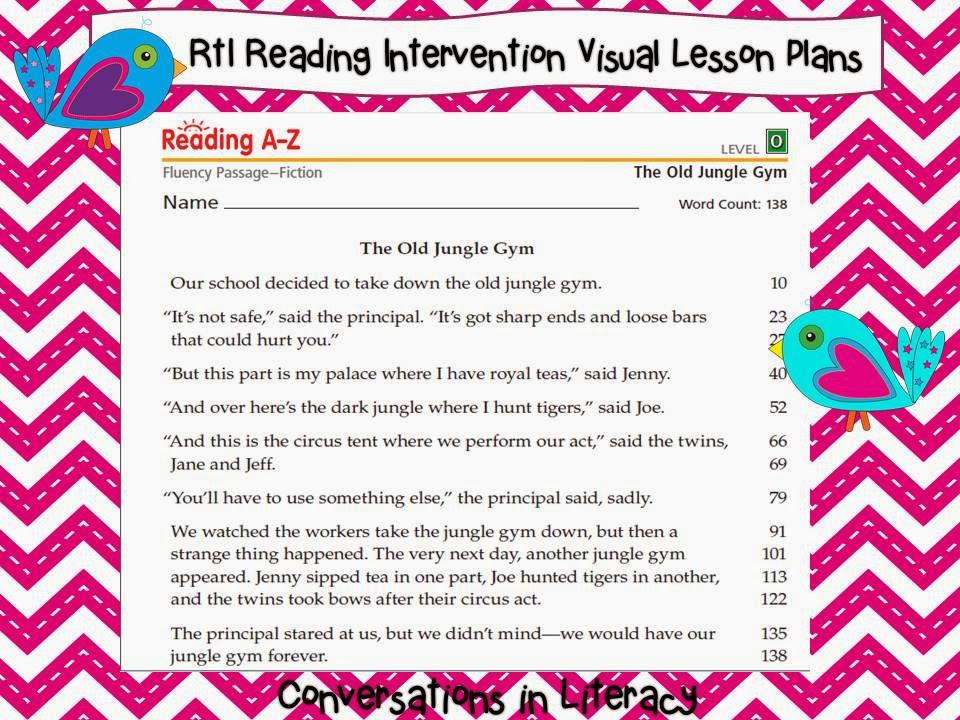 Reading A-Z Fluency Passages for Rti