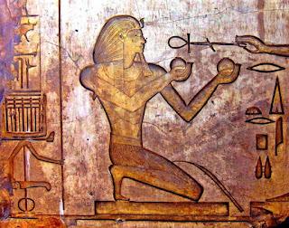 شرح لطقسة تقدمة النبيذ فى مصر القديمة