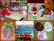 Los alumnos de Educación Infantil hicieron en clase estos huevos de Pascua, . huevo de pascua