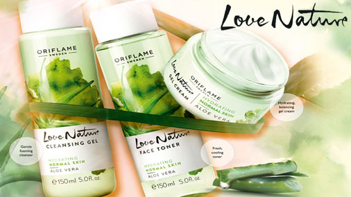 Oriflame Love Nature Aloe-vera Cleansing Gel-Toner-Gel Cream