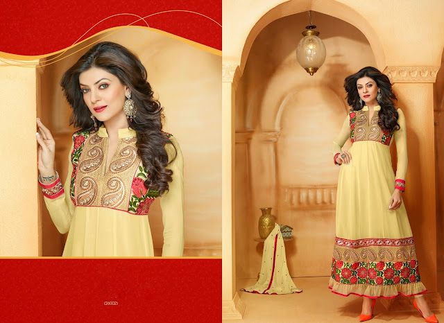 Sushmita Sen Designer Anarkali Suits,Long Anarkali Suits,Georgette Designer Anarkali Suits