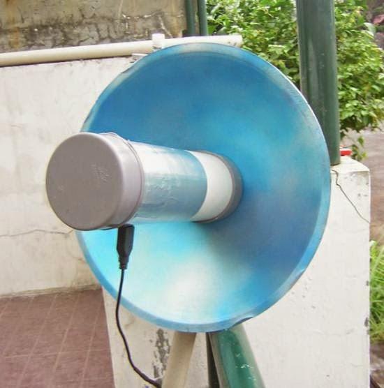 membuat antena wajan bolic wifi dan modem GSM