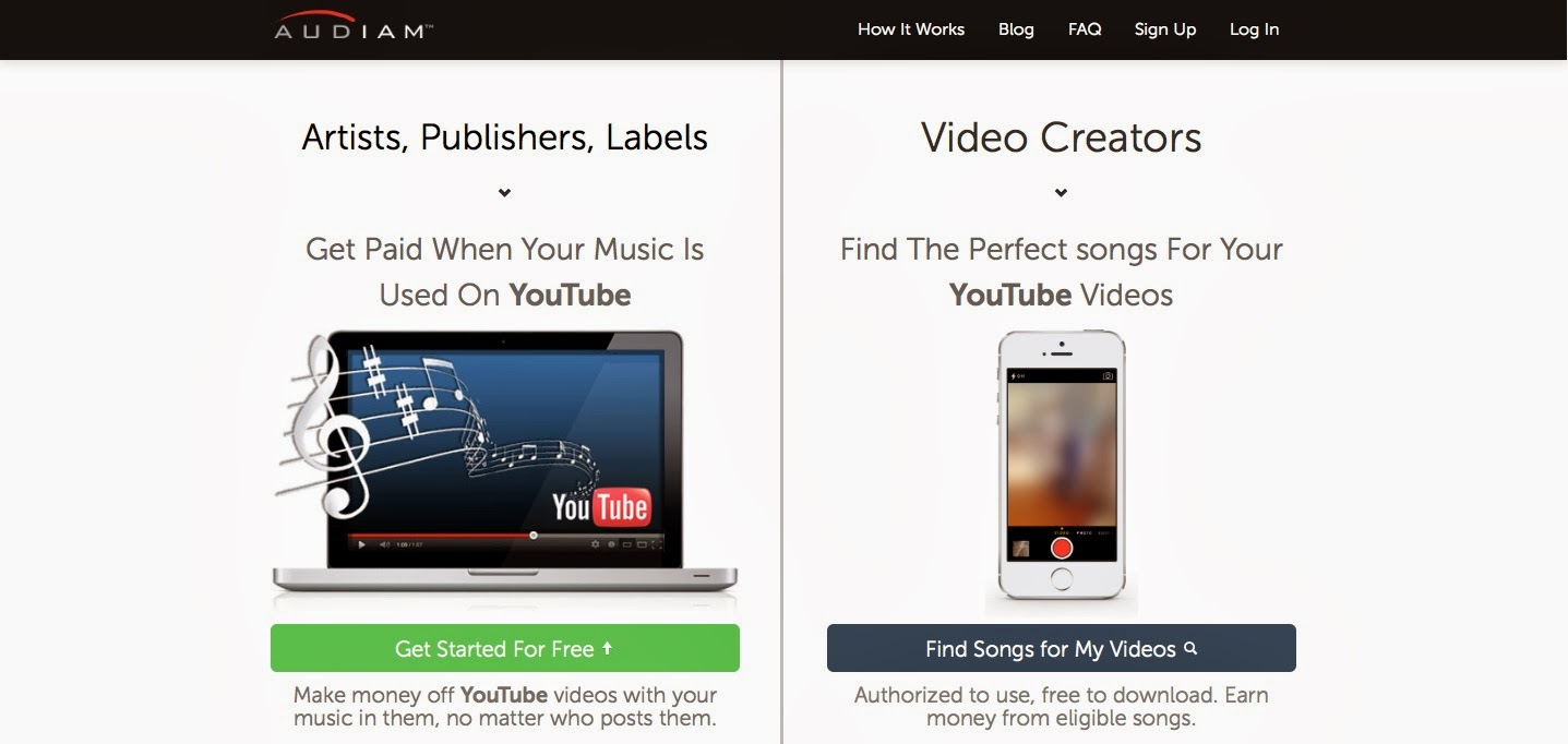 audiam the company launched in june 2013 to get music publishers labels and artists paid for the use of their music in youtube has unveiled a new music