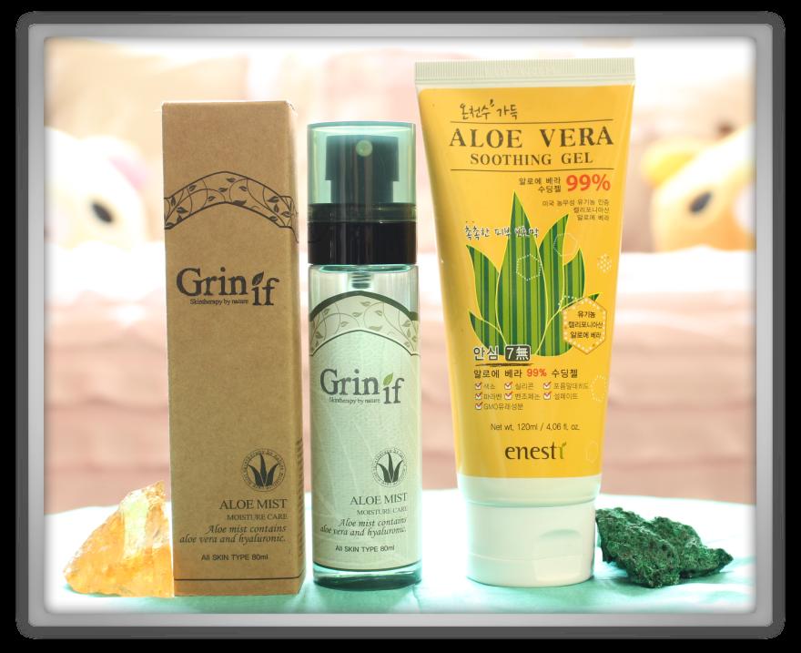 겟잇뷰티박스 by 미미박스 memebox beautybox superbox #30 Aloe Vera box unboxing review preview Grinif mist moisture care enesti soothing gel