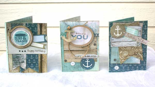 Kaisercraft Sandy Toes Cards @craftsavvy #craftwarehouse #kaisercraft #summer #beach #cards