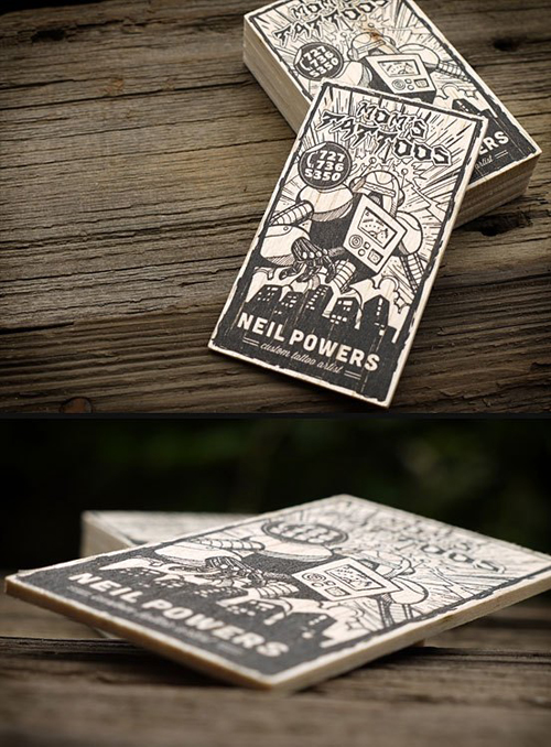 Illustration Based Business Card Designs