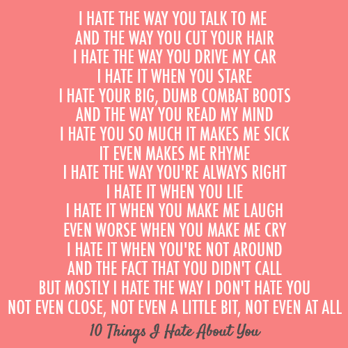 10 things i hate you: