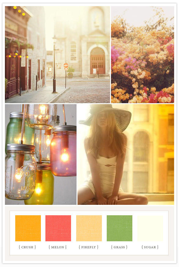 How beautiful would this color scheme be for a late summer wedding or bridal